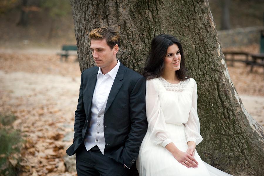 Vestido de novia con mangas desmontables