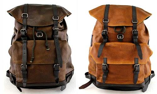mochilas vintage de cuero