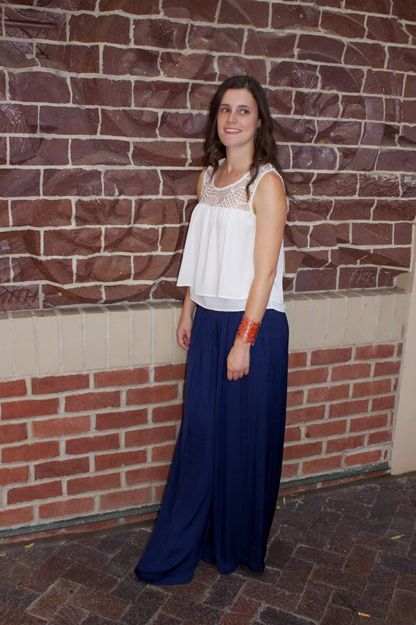 4th of july, red, white, blue, color by amber, color by amber cuff, palazzo pants, blue pants, zara top, white top