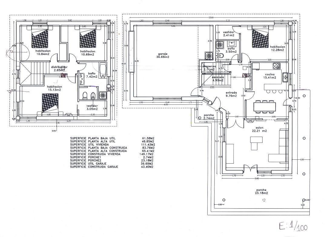 Los planos de una casa for Planos para remodelar mi casa