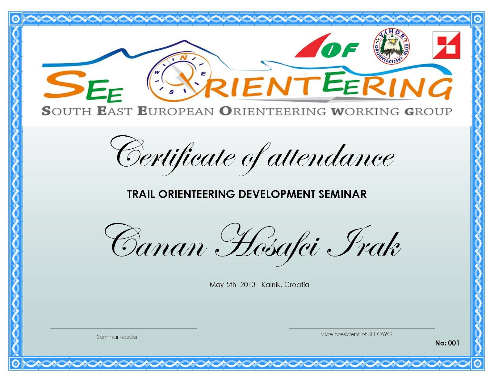 Seeoa south east european orienteerg association trail o have certificate of attendance together with seminar participants had opportunity to compete as well you can see the results from the competition here yadclub Images