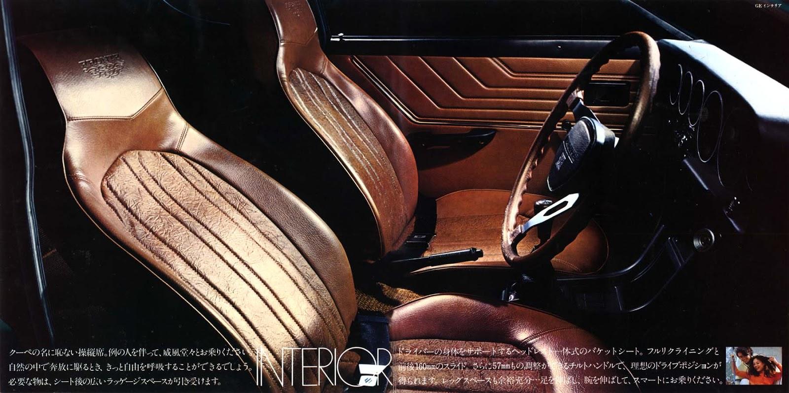 suzuki fronte coupe, małe auto, środek, wnętrze, interior, kei car, japońskie klasyki, samochody z lat 70