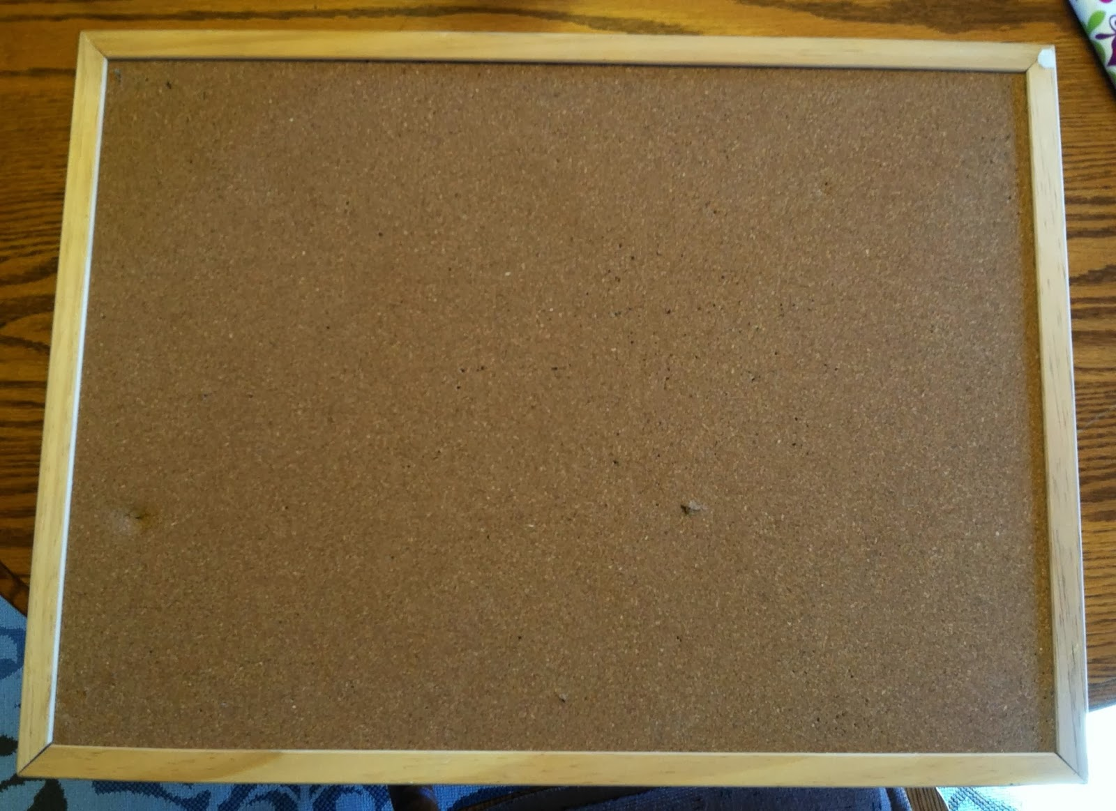 Makeover Old Cork Board