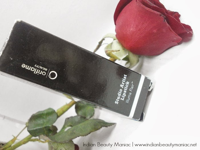 Oriflame Studio Artist Lipstick in Pink Nude Images review and swatch