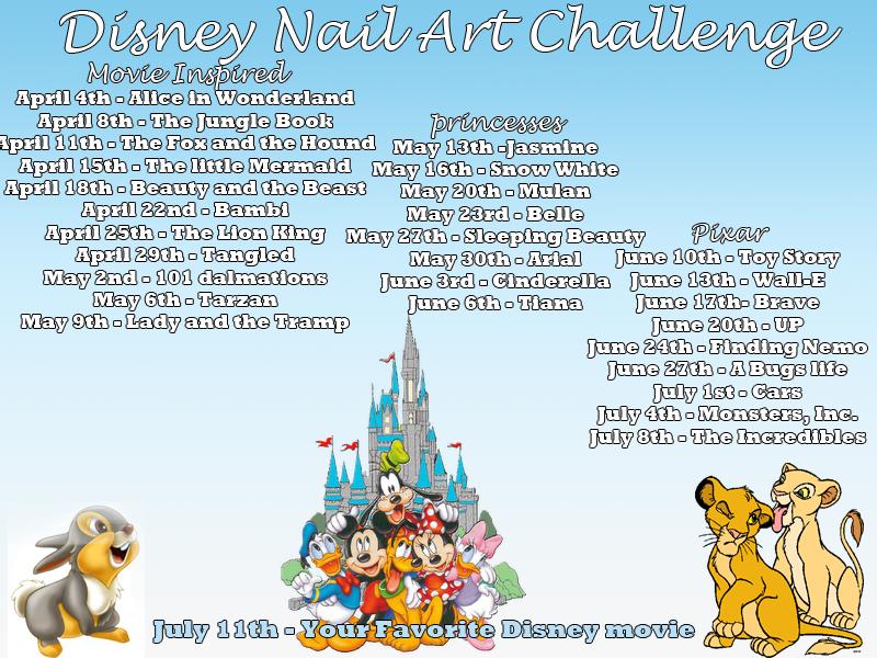 Disney Nail Art Challenge
