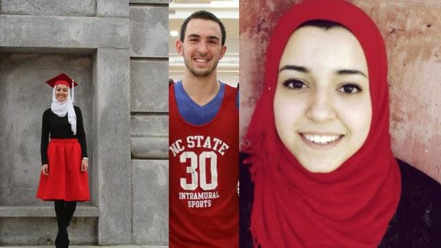 Deah Shaddy Bakarat, Yusor Mohammad Abu-Salha, Razan Mohammad Abu-Salha