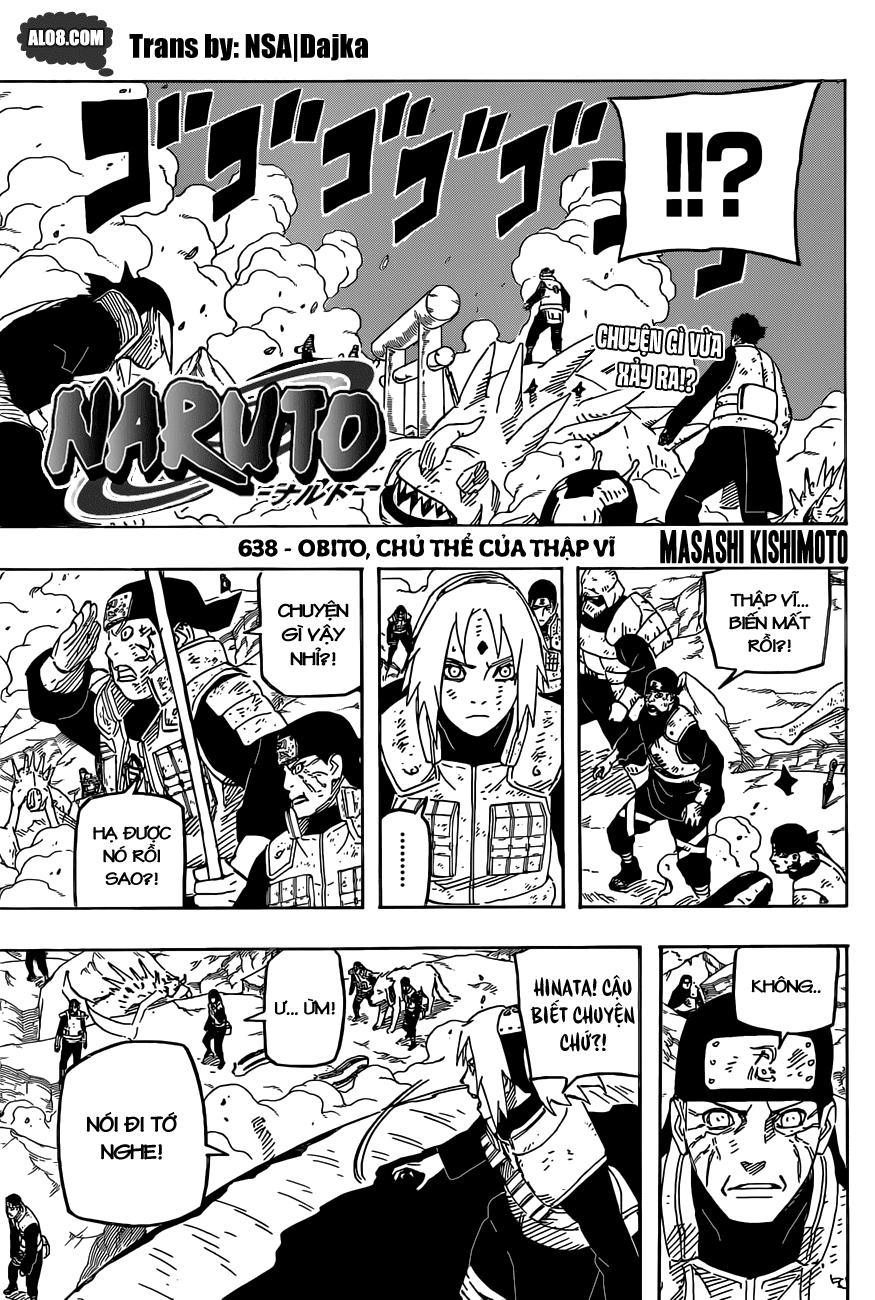 Naruto chap 638 Trang 1