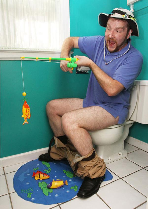 набор рыбалка для туалета