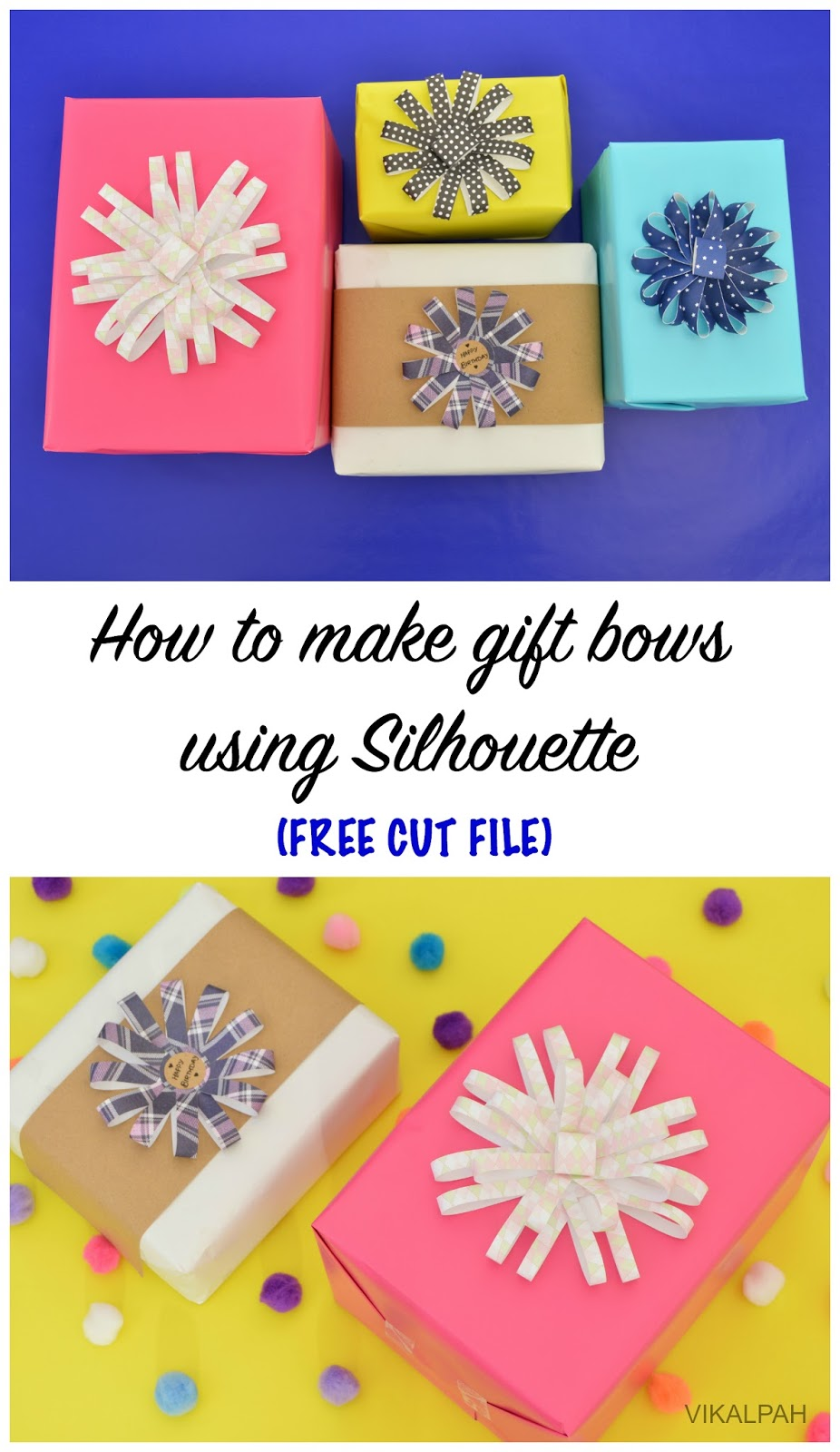Vikalpah how to make gift bows using silhouette wednesday october 21 2015 negle Choice Image