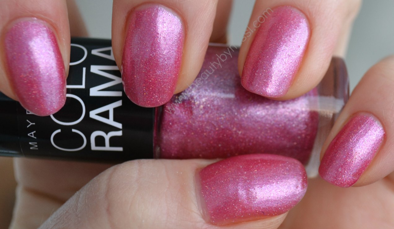 pink nail polish, manicure, nails of the day