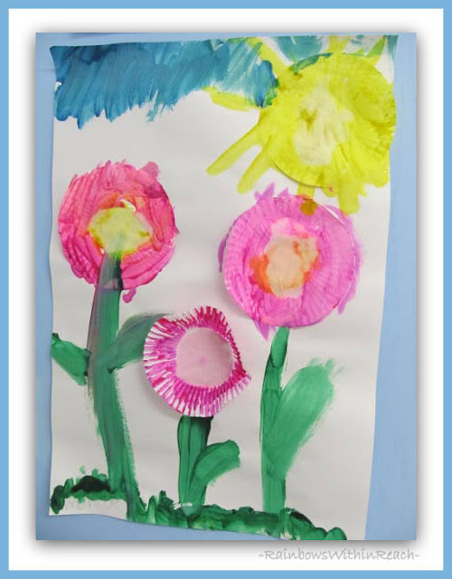 Spring Sunshine Project with Cupcake Liner Flowers