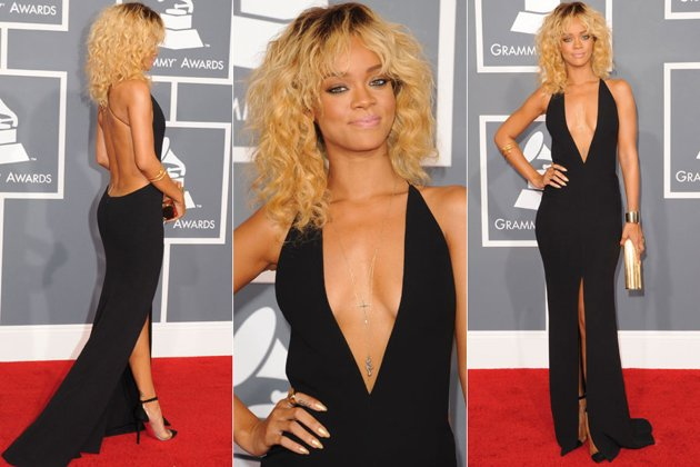 grammy awards 2012,grammy awards red carpet,diy,fashion diy,metal collar, rihanna