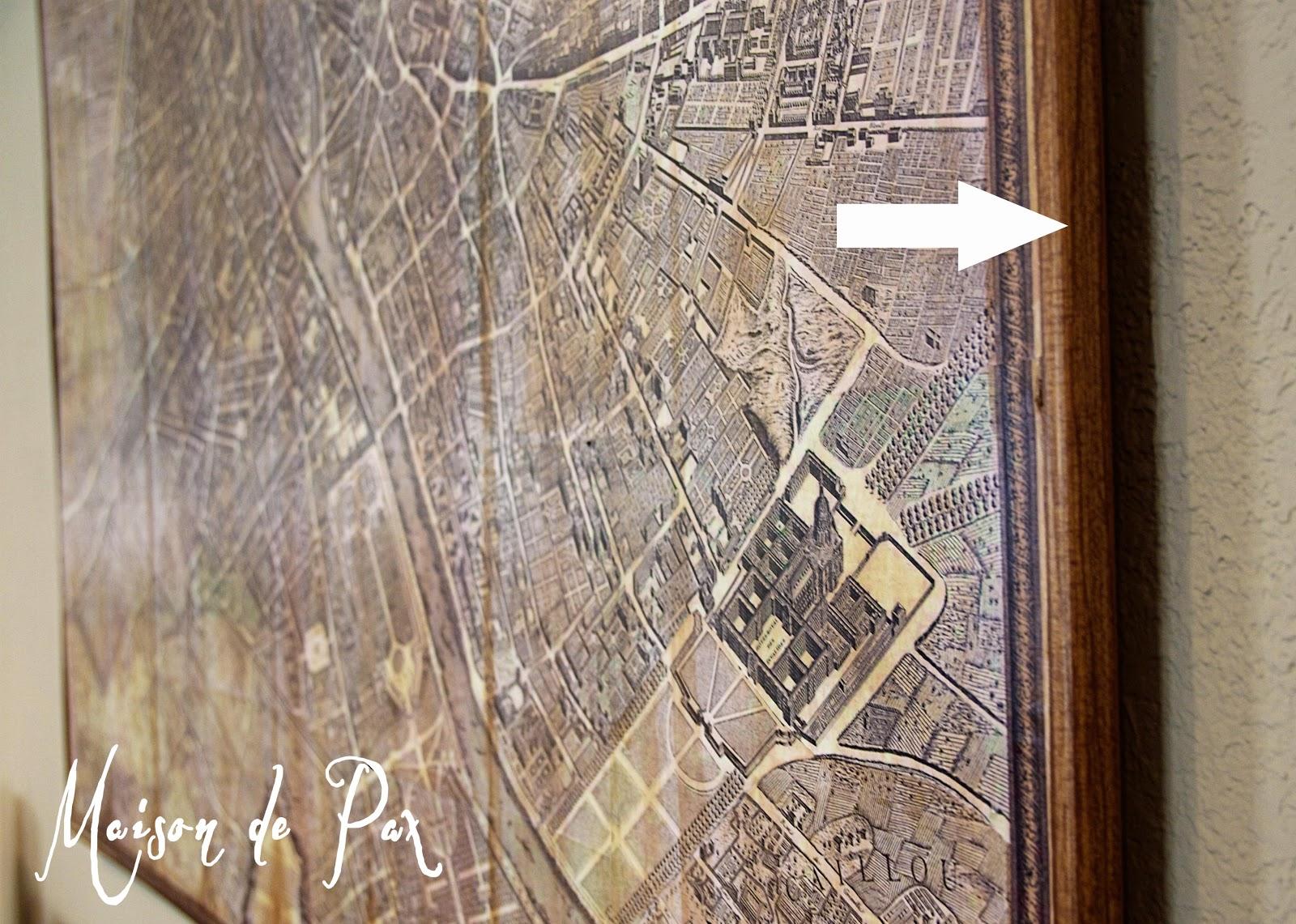 RH Vintage Paris Map Knock Off Maison De Pax - Restoration hardware paris map