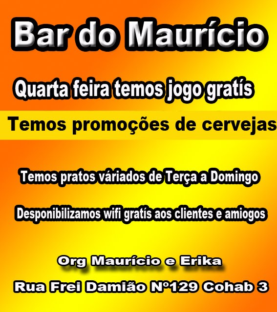 Bar do Maurício na  Cohab 3