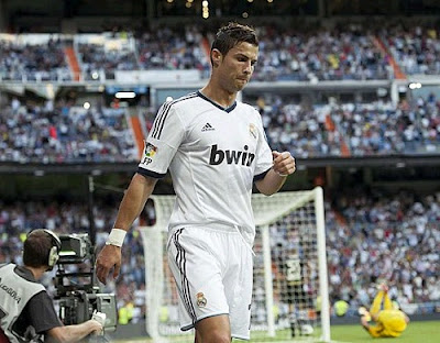 Cristiano sad after scoring against Granada