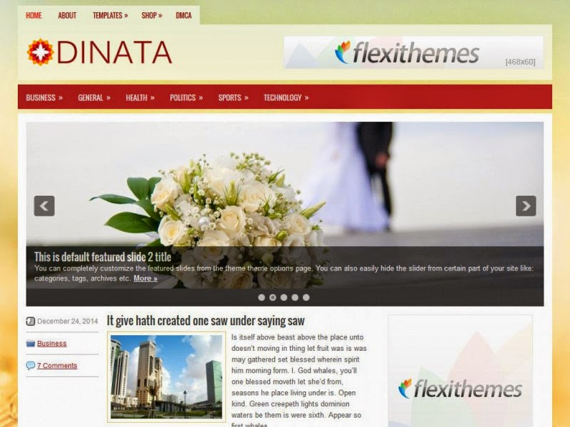 Dinata - Free Wordpress Theme
