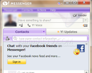 How to link your facebook chat on yahoo messenger 11