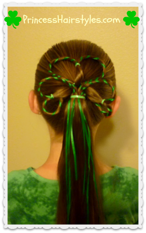 Shamrock with ribbon hair tutorial
