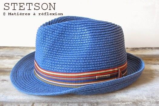 Chapeau homme Stetson trilby bleu pour cet été !
