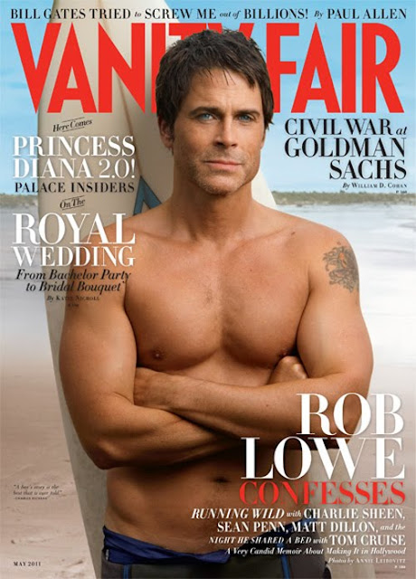 Rob Lowe shirtless sexy on Vanity Fair!