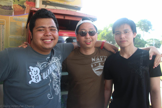 Fitz Balba, Renz Cheng and Myles Sia in Palawan