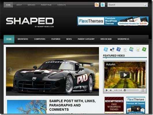 Download Shaped WordPress theme