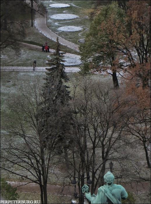 Панорама Петербурга со смотровой площадки на колоннаде Исаакиевского собора