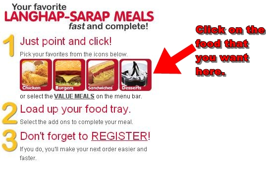 Jollibee Online Delivery instructions