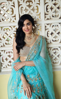 Adhah Sharma Sizzling Transparent Saree Shinning Golden Choli Ultimate Beauty Adah Sharma