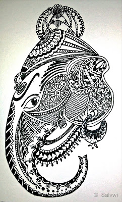 Ganesh Doodle_by_Salvwi
