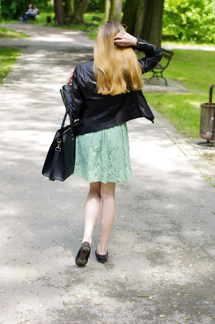 jak dbać o włosy, inspiracje, mięta, koronkowa sukienka, inspiracje, moda, fashion