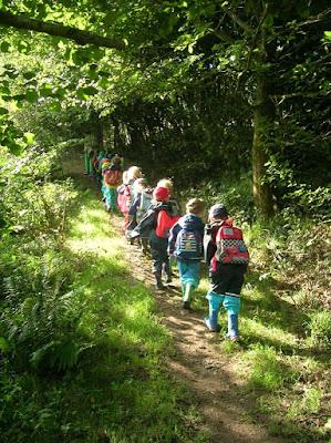 Waldzeit im Kindergarten, am Bach spielen, Waldkindergarten, Naturkindergarten, Waldorfkindergarten