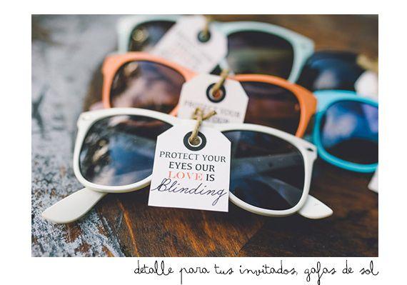 Gafas de sol para que no os deslumbre el amor