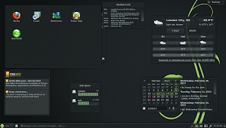 openSUSE 12.3 DARTMOUTH KDE RC1 PLASMA Widgets RSS WEATHER Calendar Hardware Disk Space