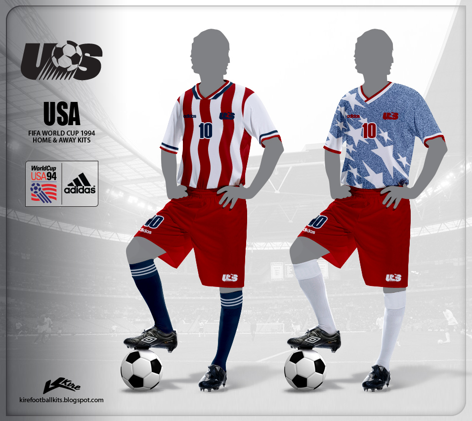 Usa 1994, le maglie (kirefootballkits.blogspot.it)