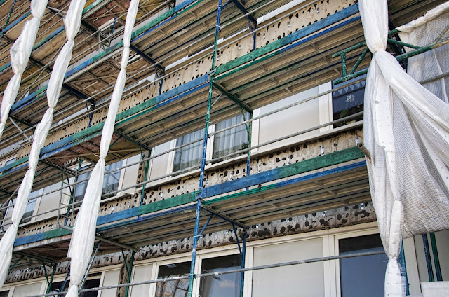 Baustelle Sanierung Anna-Ebermann-Straße / Wartenberger Straße 44, 13053 Berlin, 27.03.2014