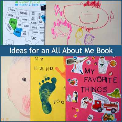 Ideas for an All About Me Book