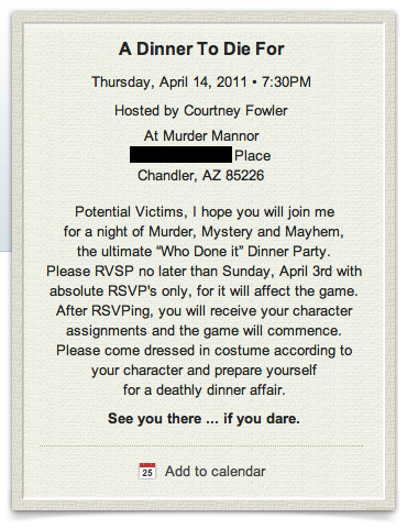 how to plan a murder mystery party script