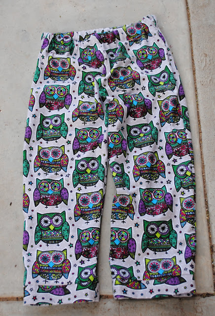 owl flannel pajama pants