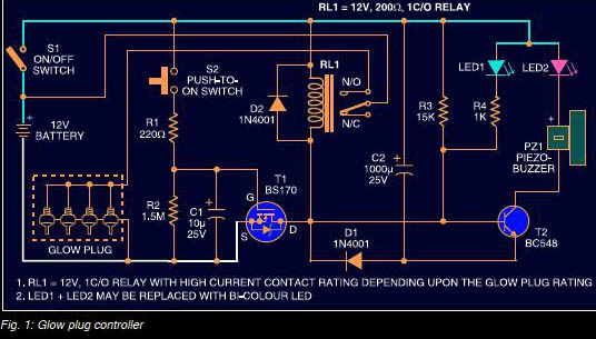 automobile glow plug controller  circuit diary, wiring diagram