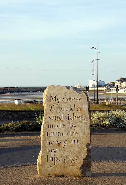 Poetry on Margate beach front