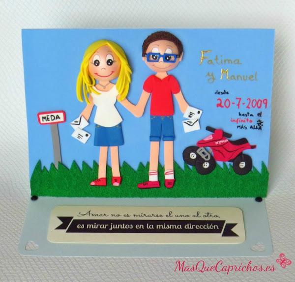Manualidades en goma eva para aniversario imagui for Regalos de aniversario de bodas para amigos