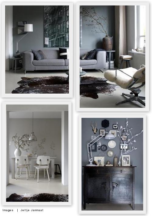Een grijze muur saai nee hoor villa d 39 esta interieur en wonen for Grijze muur