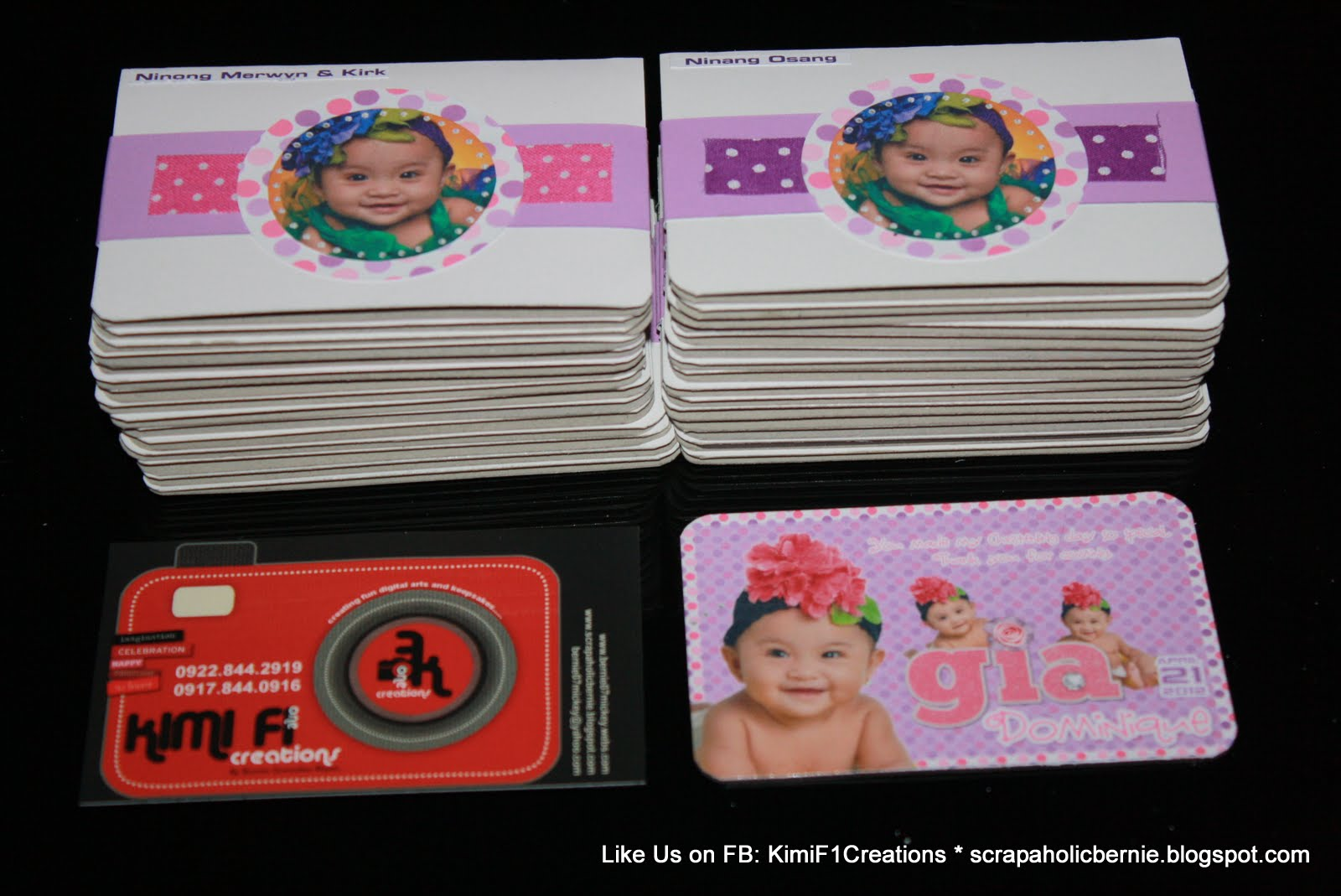 F1 digital scrapaholic christening ref magnets for Personalized ref magnet giveaways