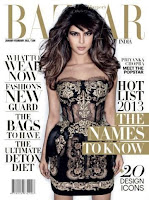 hot, sexy, Priyanka, Chopra, Harper's, Bazaar, Magazine, cover, January, 2013, Scans.