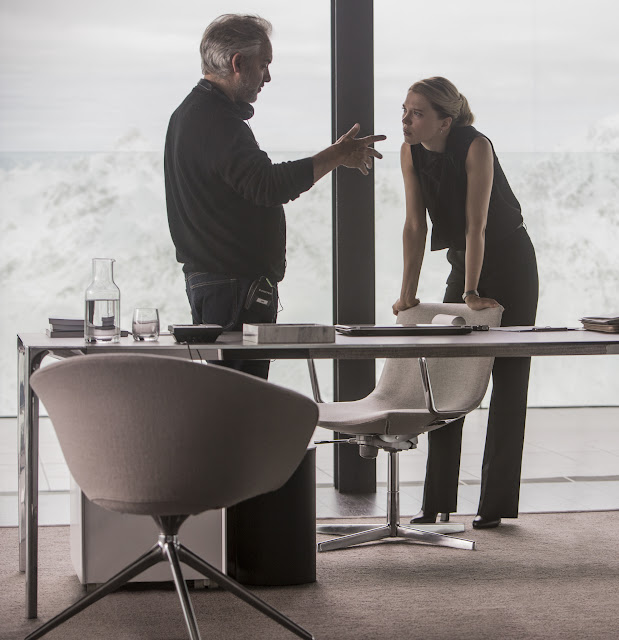 Director Sam Mendes and Léa Seydoux on the set of Metro-Goldwyn-Mayer Pictures/Columbia Pictures/EON Productions' action adventure SPECTRE.