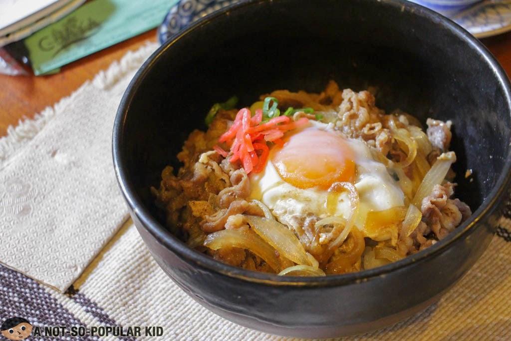 Tasty Japanese Gyudon of Chaya in Baguio