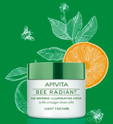 BEE RADIANT de APIVITA, Crema de protección antiedad y luminosidad