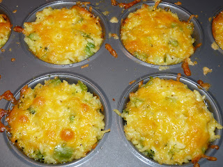 broccoli cheese rice muffin