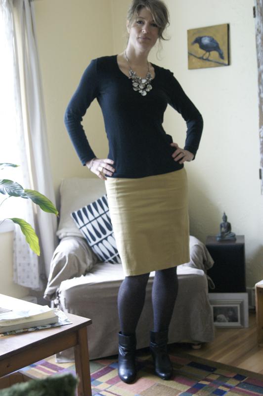 day2daywear pencil skirt leopard tights